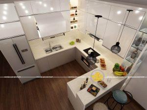 Tủ Bếp Acrylic anh Tâm Nghệ An