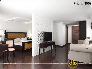 Nội thất phòng khách Tân cổ điển Khách sạn Con Gà Vàng - 1502 màu hạt dẻ cháy