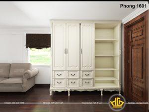 Nội thất phòng khách Tân cổ điển Khách sạn Con Gà Vàng - 1601 màu trắng kem
