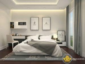 Nội thất phòng ngủ hiện đại Chị Hương Vinhome