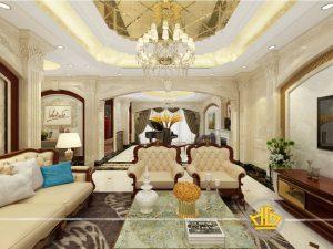 Phòng khách tân cổ điển Anh Hoạt