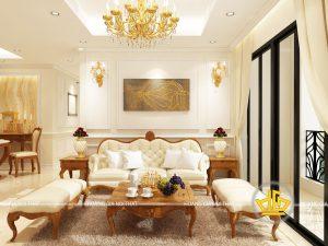 Phòng khách tân cổ điển Anh Khánh Tân Hoàng Minh