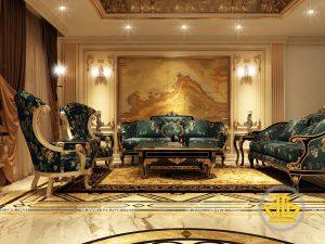 Phòng khách tân cổ điển Anh Tùng đường Tây Sơn