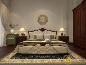 Nội thất phòng ngủ tân cổ điển Bác Thoa đường Láng