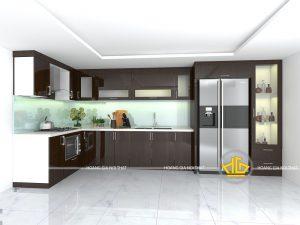 Tủ Bếp Acrylic anh Tùng Khương Đình