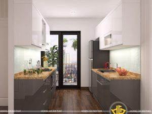 Tủ Bếp Acrylic bác Dũng Thái Bình
