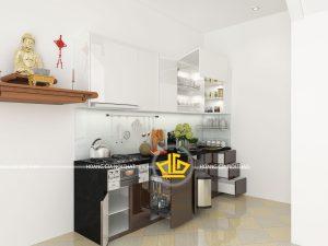 Tủ Bếp Acrylic chị Hoa Hà Đông