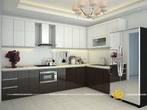 Tủ Bếp Acrylic chị Mơ Hải Phòng