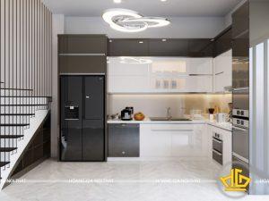 Tủ Bếp Acrylic chị Vân Lạng Sơn
