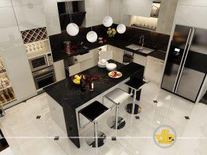 Tủ Bếp Acrylic chú Thanh Đường Láng