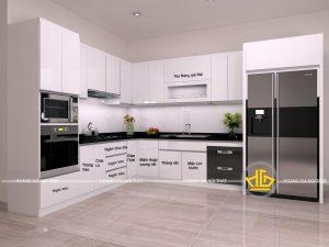 Tủ Bếp Acrylic cô Nhàn
