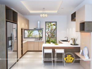 Tủ Bếp Acrylic nhà cô Hoàn