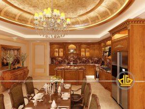 Tủ bếp gỗ gõ anh Hùng Tây Hồ