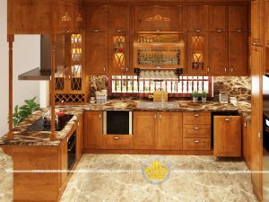 Tủ bếp gỗ gõ bác Hạnh Thanh Hóa