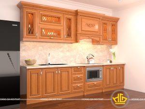 Tủ bếp gỗ gõ cô Ngần Bồ Đề