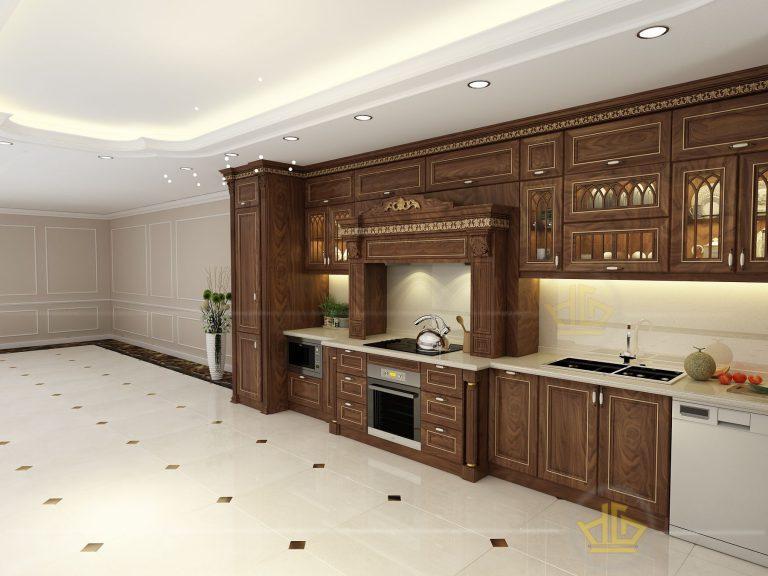Nội thất nhà bếp tân cổ điển