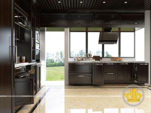 Tủ bếp tân cổ điển anh Dũng Gamuda