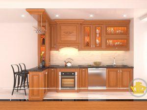 Tủ bếp tân cổ điển anh Huynh