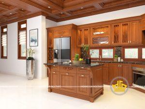 Tủ bếp tân cổ điển đẹp rẻ tốt nhất