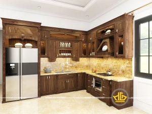 Tủ bếp tân cổ điển cô Hoàn Thanh Hóa