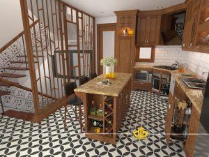 Tủ bếp tân cổ điển tại Yên Xá