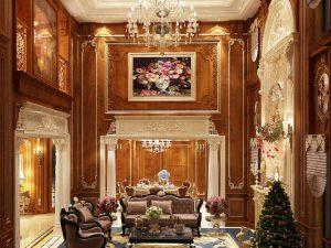 Phòng khách tân cổ điển Mẫu 1