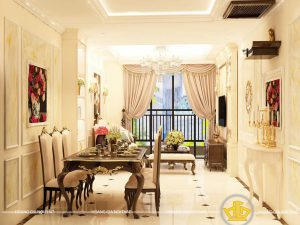 Phòng khách tân cổ điển Mẫu 7