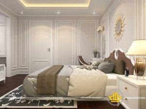 Phòng ngủ tân cổ điển chị Hương Vinhome