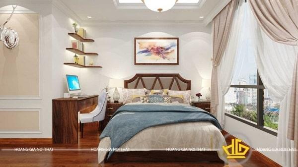 Phòng ngủ tân cổ điển ấm áp, hiện đại