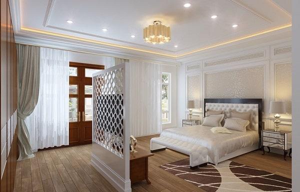 Nội thất phòng ngủ tân cổ điển nhẹ nhàng, tinh khôi