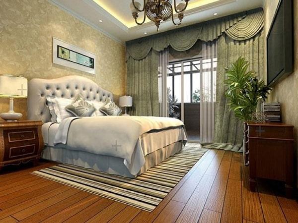 Phòng ngủ tân cổ điển gỗ tự nhiên