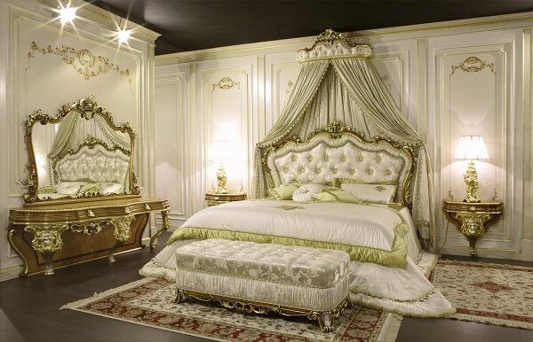 Phòng ngủ tân cổ điển quý tộc, sang chảnh
