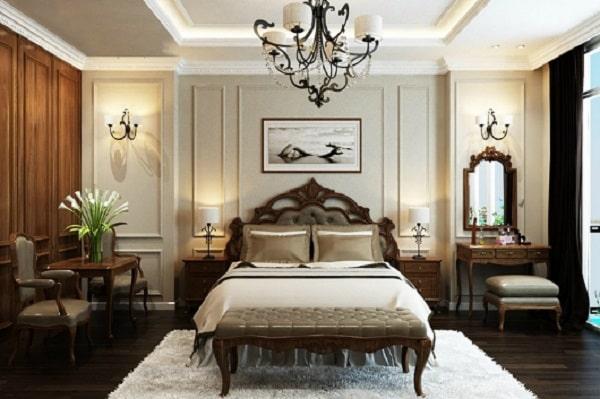 Phòng ngủ tân cổ điển hiện đại, hoài cổ
