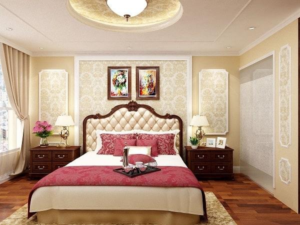 Phòng ngủ tân cổ điển lãng mạn, ấm cúng