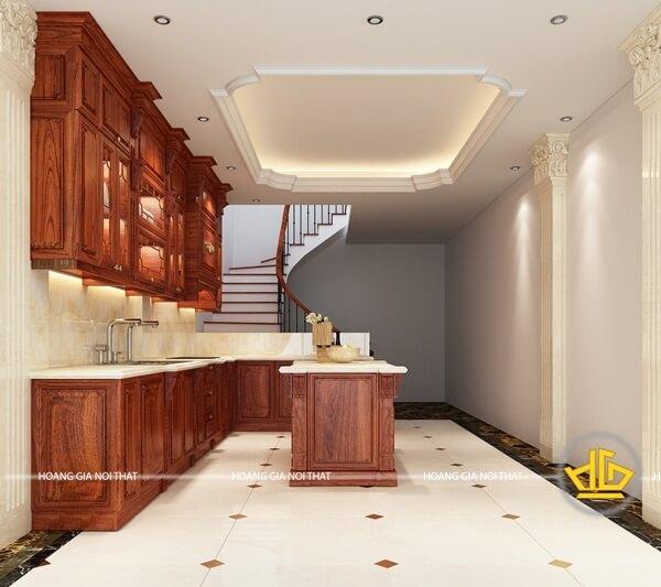 Tủ bếp tận dụng tối đa không gian của căn nhà một cách hoàn mĩ