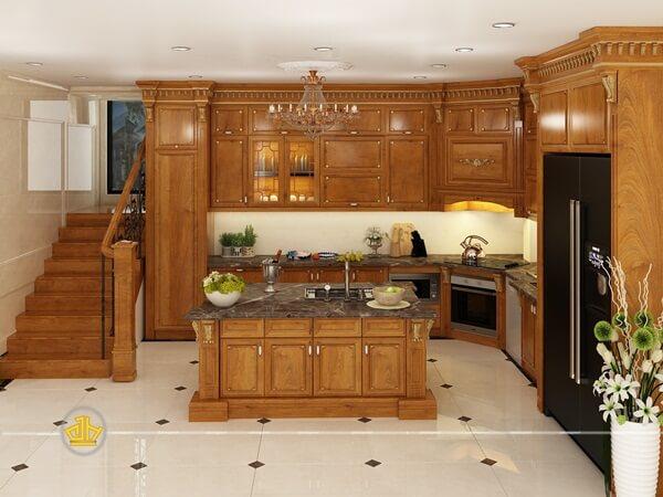 Tủ bếp tích hợp đầy đủ lò vi sóng, tủ lạnh