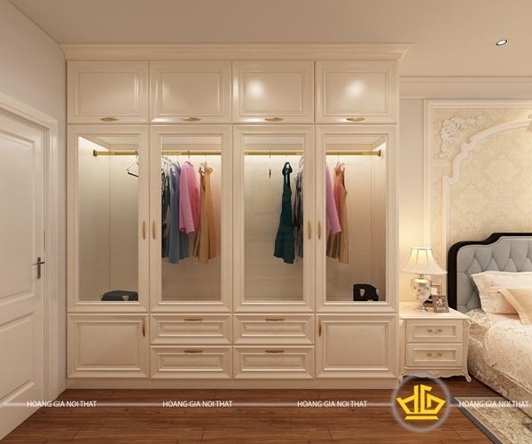 Mẫu thiết kế nội thất phòng ngủ hiện đại nhưng vẫn thể hiện sự sang trọng