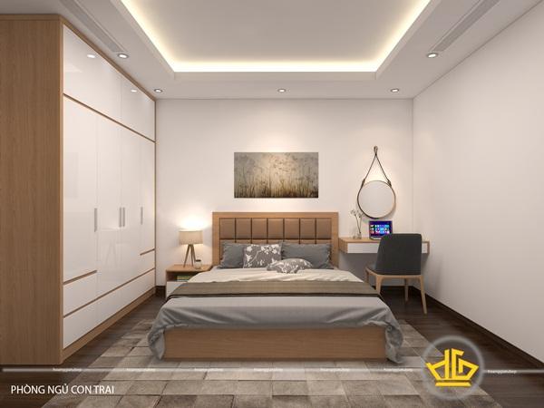 Mẫu thiết kế phòng ngủ đơn giản, ấm cúng