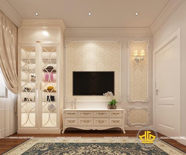 Nội thất được sử dụng chung chất liệu, màu sắc tạo nên sự đồng điệu