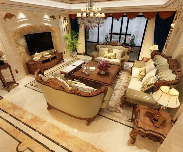 Phòng khách tân cổ điển ấn tượng