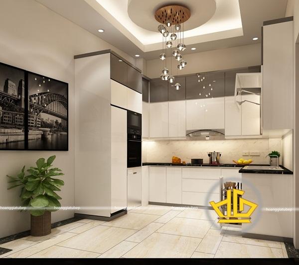 Tủ bếp âm tường mang đến không gian gọn gàng, sạch sẽ