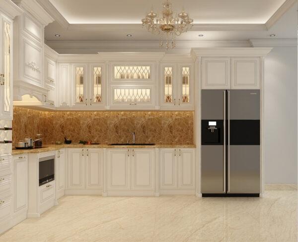 Gam màu trắng giúp mở rộng không gian bếp hơn