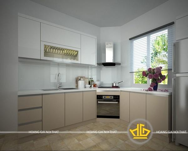 Bạn sẽ thấy được hiệu quả thẩm mỹ của những mẫu tủ bếp hiện đại sáng màu