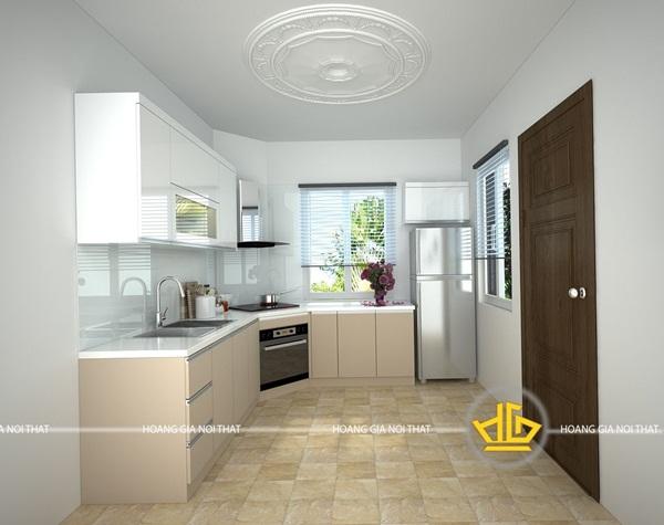 Những mẫu tủ bếp tận dụng được ánh sáng tự nhiên sẽ tạo không khí thoáng đãng, tránh ngột ngạt